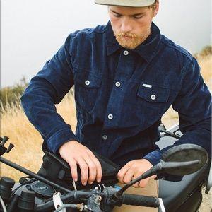 Navy Iron and Resin Corduroy Rambler Jacket